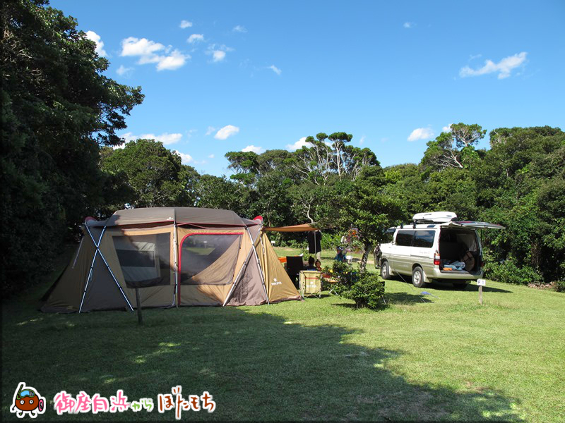 観光農園キャンプ村のキャンプサイト~お車も隣に置き倉庫代わりイト~