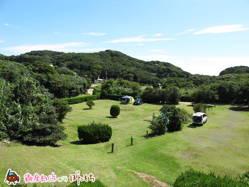 観光農園キャンプ村のキャンプサイト~御座白浜海水浴場エリアで広大なキャンプサイトを持つキャンプ場~