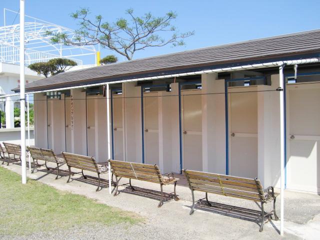 御座白浜はまゆうバンガローの温水シャワー室(8時~22時)